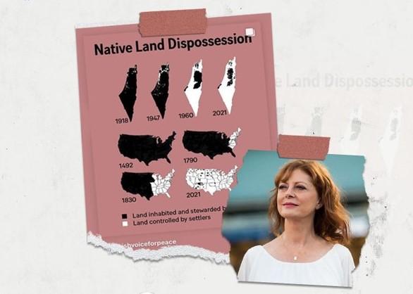 غردت ضد اسرائيل: ممثلة أميركية مشهورة تقارن بين تهجير الفلسطينيين والأميركيين الأصليين